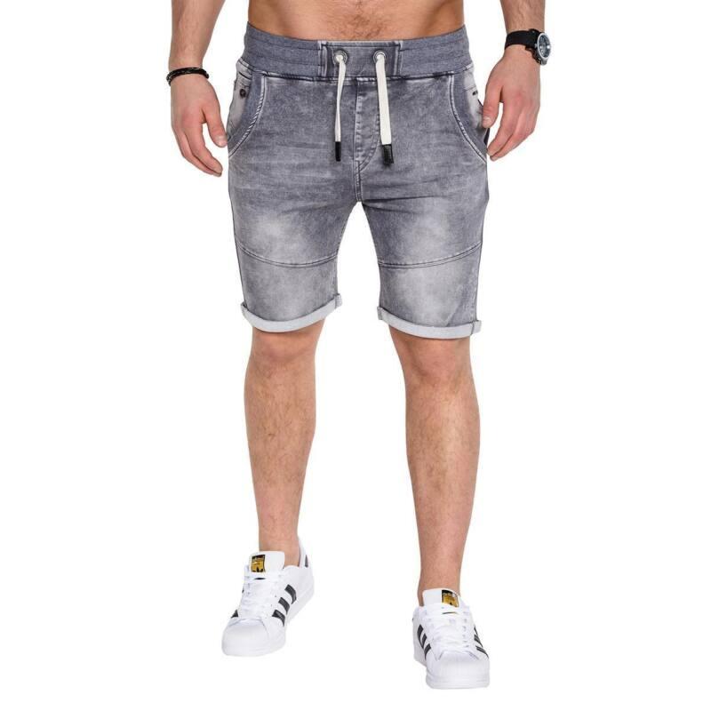 betterstylz marmanbz jeans jogg short jeans grau. Black Bedroom Furniture Sets. Home Design Ideas